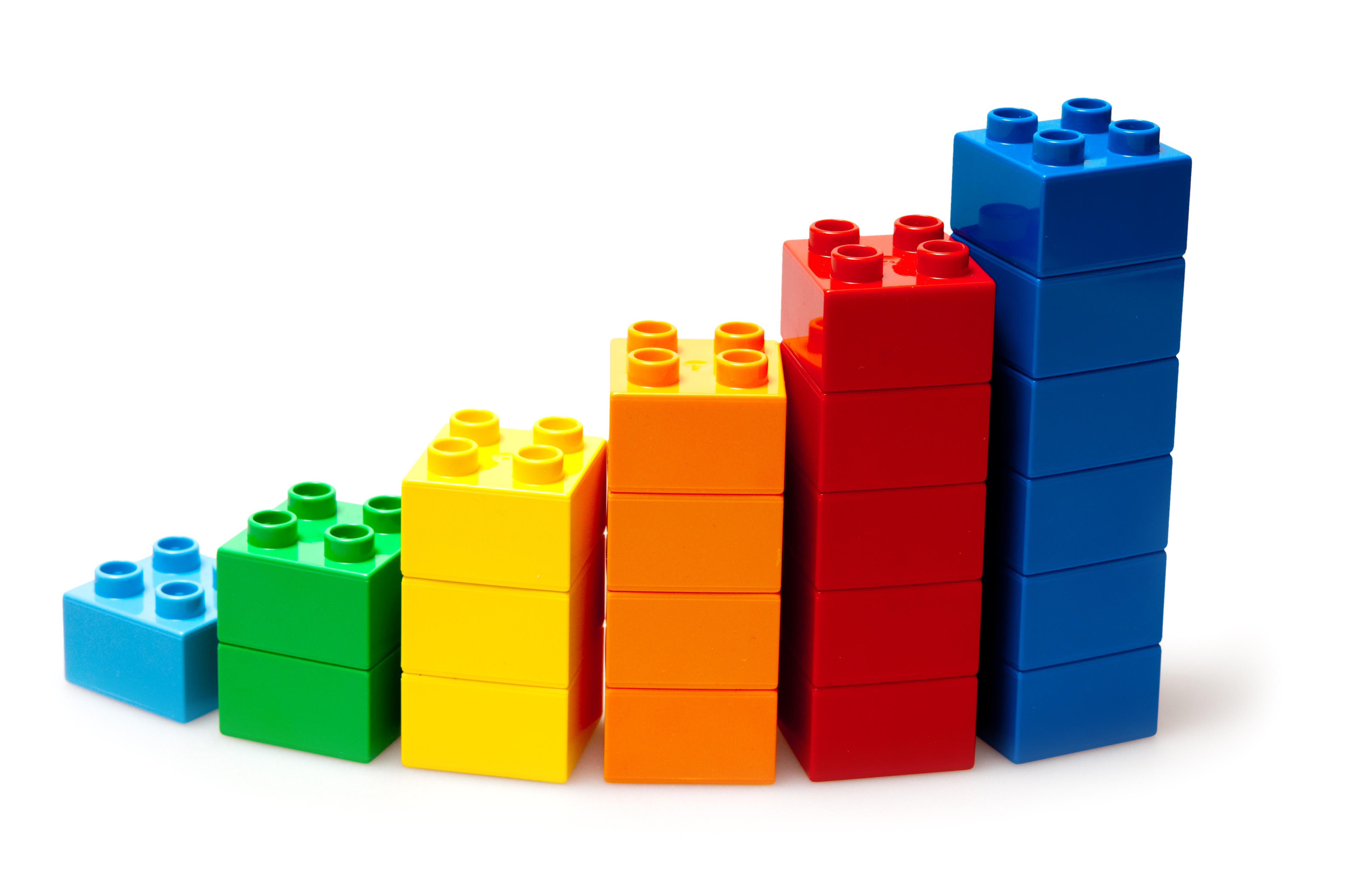 Building blocks representing a child's growth